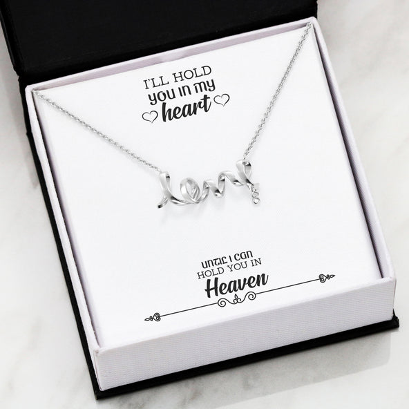 ***Remembrance Heart- FRIENDSHIP SCRIPTED LOVE NECKLACE