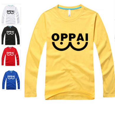One Punch Man Saitama Oppai Long Sleeve Shirt