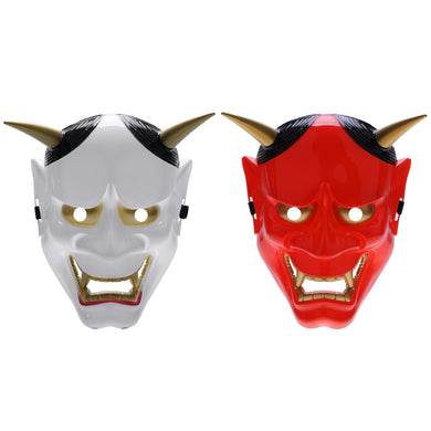 Japanese PVC Noh/Oni Full Face Mask