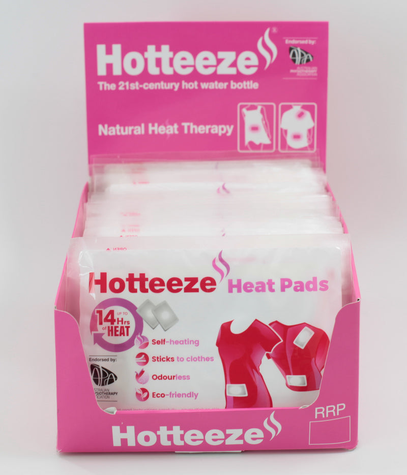 Hotteeze Heat Pads (240 pads ) + FREE Display Box