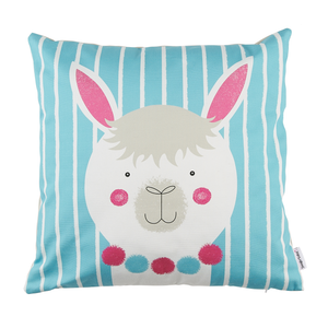 Stripy Alpaca Cushion