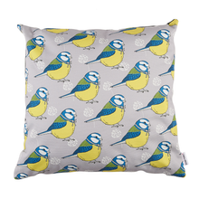 Load image into Gallery viewer, Little Blue Tit Cushion Cover