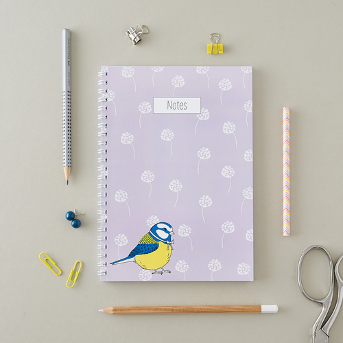 Little Blue Tit A5 Notebook