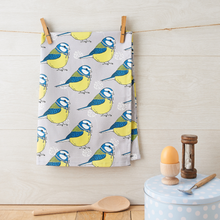 Load image into Gallery viewer, Little Blue Tit Tea Towel