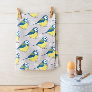 Little Blue Tit Tea Towel