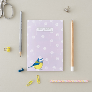 Little Blue Tit Birthday Card
