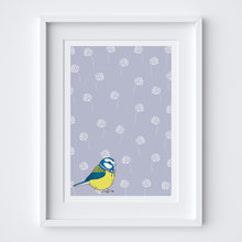 Load image into Gallery viewer, Little Blue Tit Illustrated Print