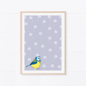Little Blue Tit Art Print