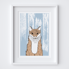 Load image into Gallery viewer, Curious Fox Illustrated Print