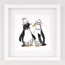 Load image into Gallery viewer, Dapper Penguins, Limited Edition Screen Print