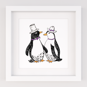 Dapper Penguins, Limited Edition Screen Print