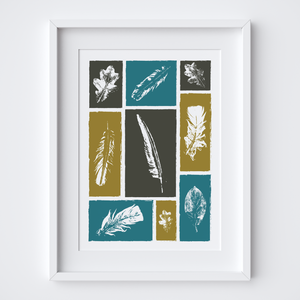 Feathers & Leaves, Limited Edition Screen Print