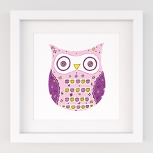 Load image into Gallery viewer, Funky Owl, Limited Edition Screen Print