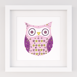 Funky Owl, Limited Edition Screen Print