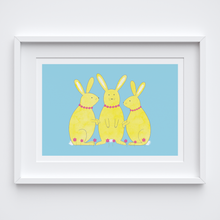 Load image into Gallery viewer, Gossip Bunnies Illustrated Print