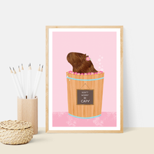 Load image into Gallery viewer, Happy Capybara Pink Art Print