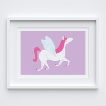 Load image into Gallery viewer, Happy Unicorn Art Print