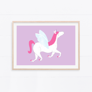 Happy Unicorn Art Print