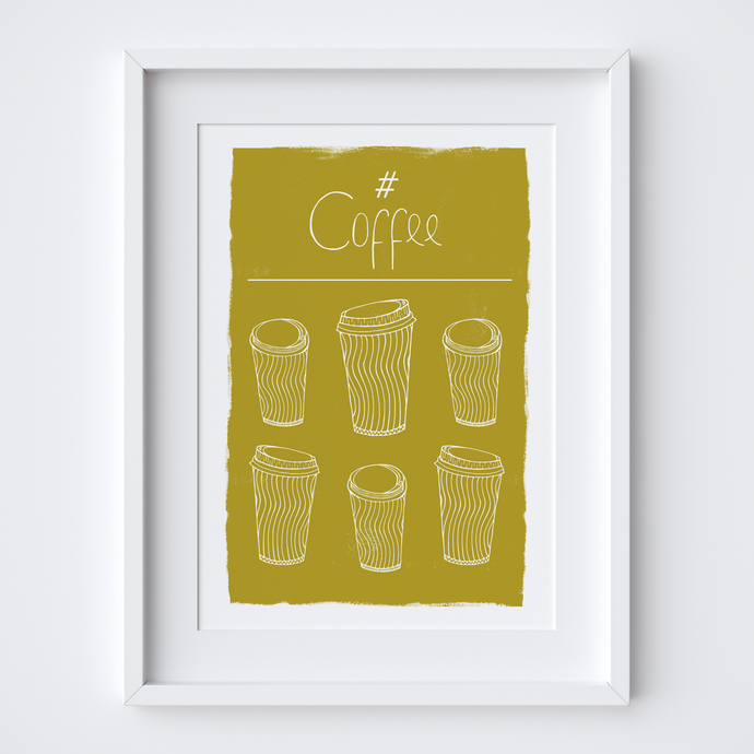Hashtag Coffee, Limited Edition Screen Print
