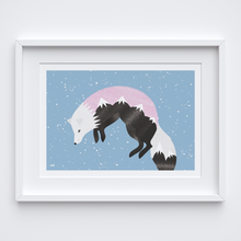 Load image into Gallery viewer, Jumping Fox Illustrated Print