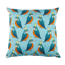 Load image into Gallery viewer, Royal Kingfisher Cushion Cover