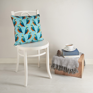 Royal Kingfisher Cushion Cover