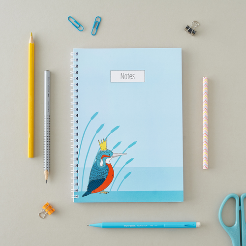 Royal Kingfisher A5 Notebook
