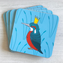 Load image into Gallery viewer, Royal Kingfisher Coaster Set