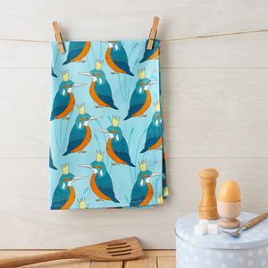 Royal Kingfisher Tea Towel