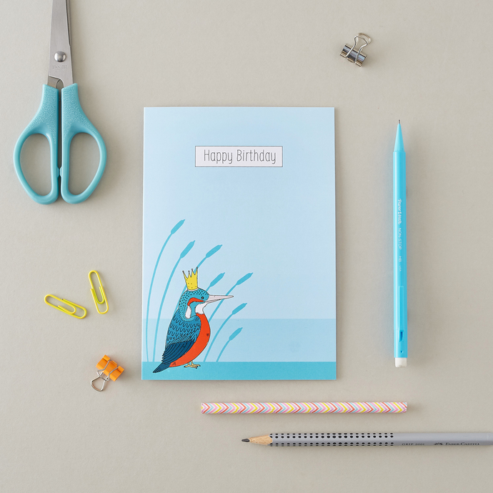Royal Kingfisher Birthday Card
