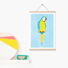 Load image into Gallery viewer, Laughing Macaw Art Print