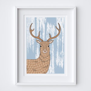 Majestic Stag Illustrated Print
