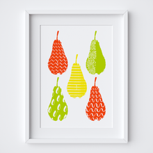 Load image into Gallery viewer, Pattern Pears, Limited Edition Screen Print