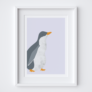 Penguin Chick Illustrated Print