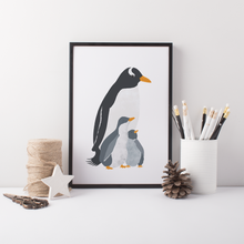 Load image into Gallery viewer, Penguin Mama Art Print