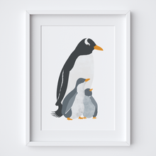 Load image into Gallery viewer, Penguin Mama Illustrated Print