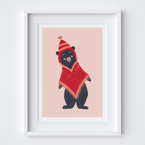 Peruvian Bear (Boy) Illustrated Print