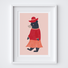 Load image into Gallery viewer, Peruvian Bear (Girl) Illustrated Print