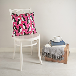 Perky Puffin Cushion Cover