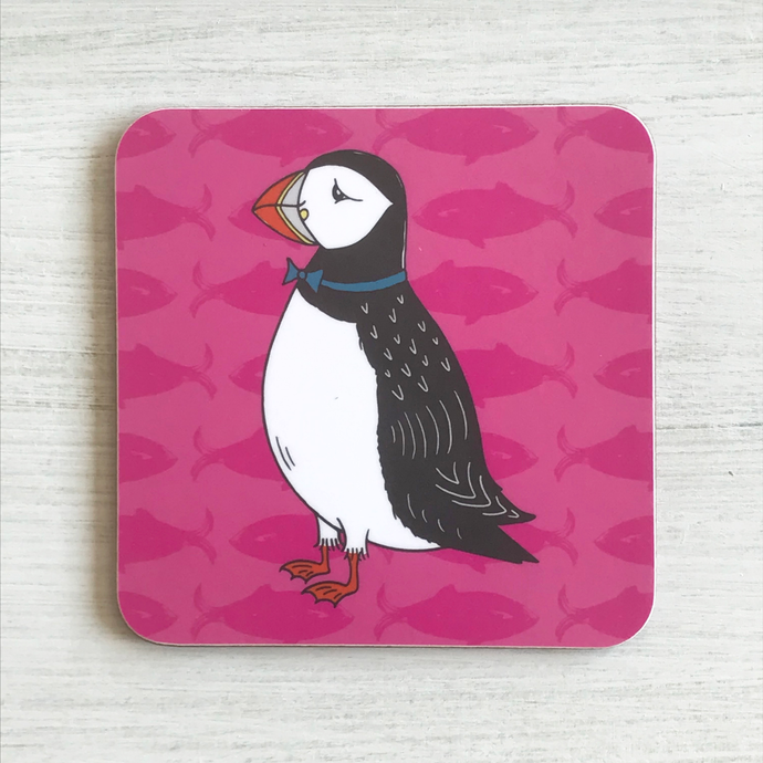 Perky Puffin Coaster