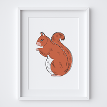 Load image into Gallery viewer, Red Squirrel, Limited Edition Screen Print