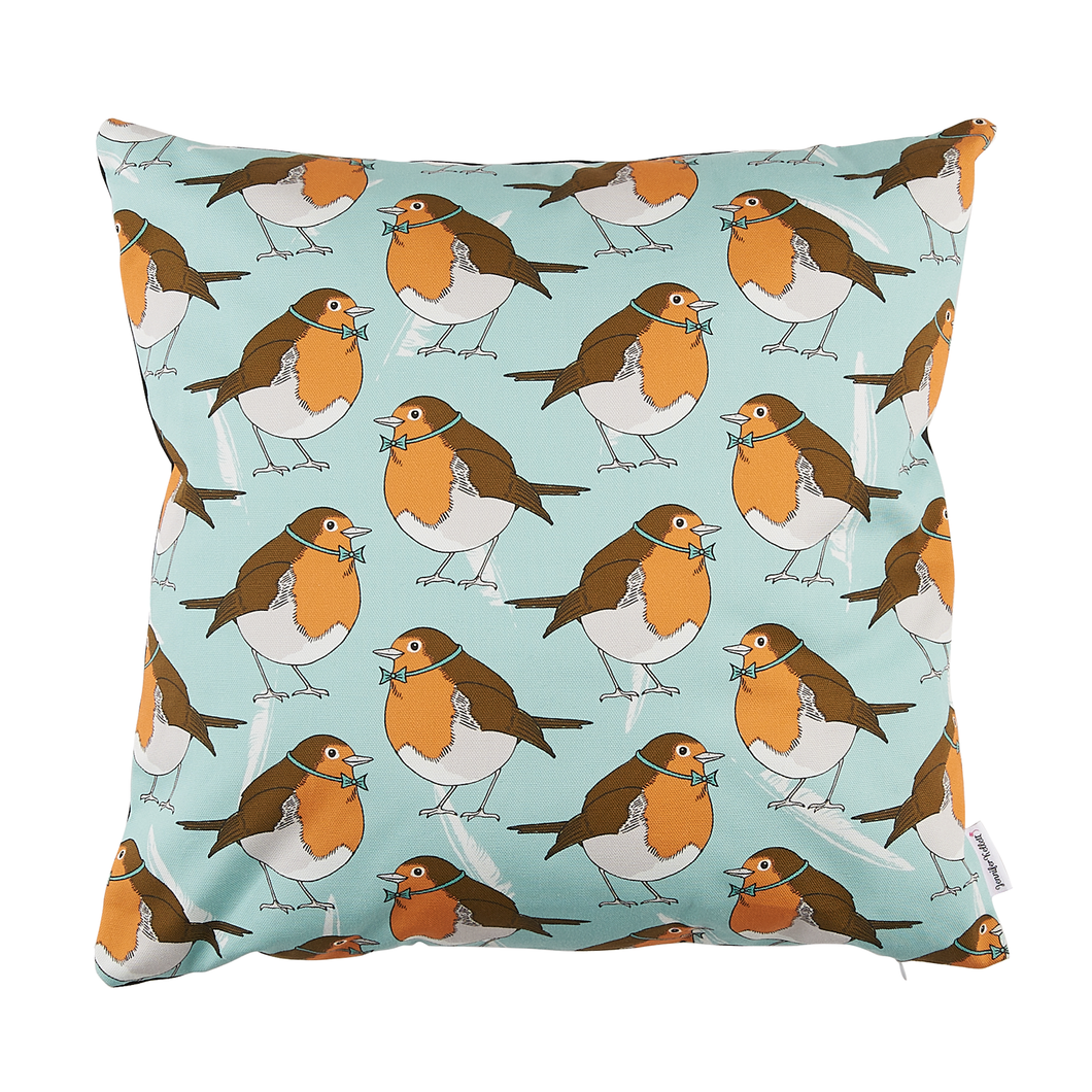 Dapper Robin Cushion