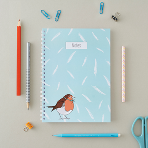 Dapper Robin A5 Notebook