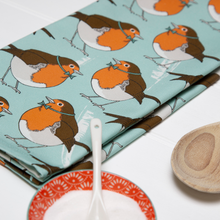 Load image into Gallery viewer, Dapper Robin Tea Towel
