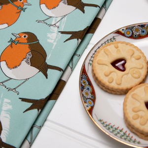 Dapper Robin Tea Towel