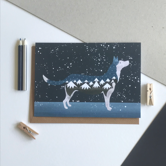 Snow Dog Card