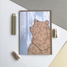 Load image into Gallery viewer, Stately Bear Illustrated Print