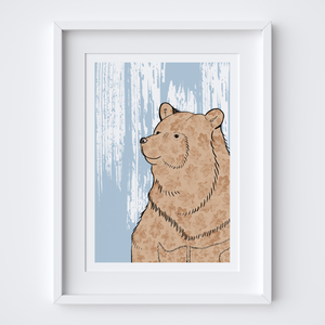 Stately Bear Art Print