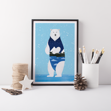 Load image into Gallery viewer, Wandering Bear Art Print