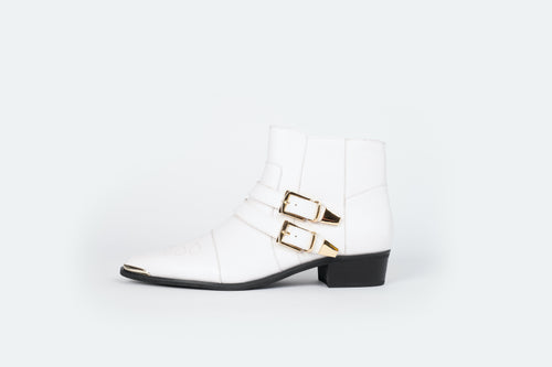 TILLY BOOT (WHITE/GOLD)
